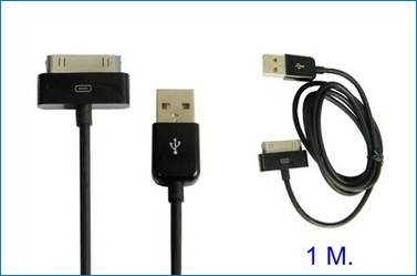 Cable USB para iPhone , iPad , iPod . Negro